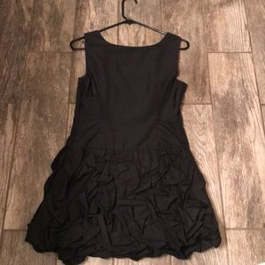 Black Express party dress with ruffles